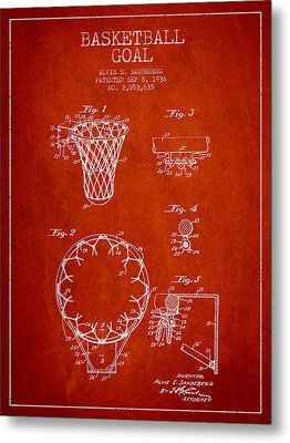 Vintage Basketball Goal Patent From 1936 Metal Print