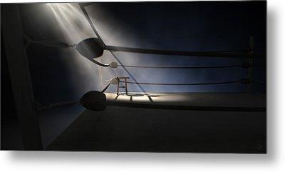 Vintage Boxing Corner And Stool Metal Print by Allan Swart