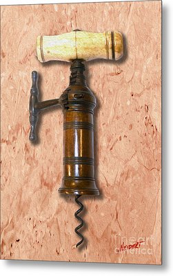 Kings Rack And Pinion Corkscrew Painting  Metal Print