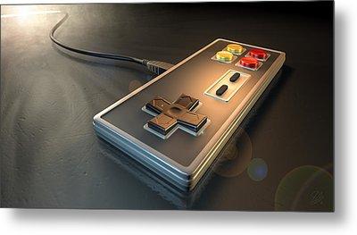 Vintage Gaming Controller Metal Print by Allan Swart