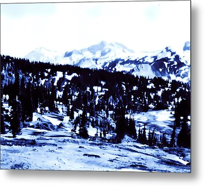 Metal Print featuring the photograph Vintage Mount Rainier Forest Early 1900 Era... by Eddie Eastwood