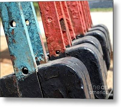 Vintage Railroad Switches Metal Print by Yali Shi