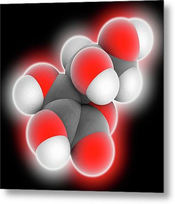Vitamin C Ascorbic Acid Molecule Metal Print by Laguna Design