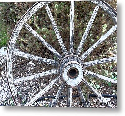 Wagon Wheel Study 2 Metal Print by Sylvia Thornton