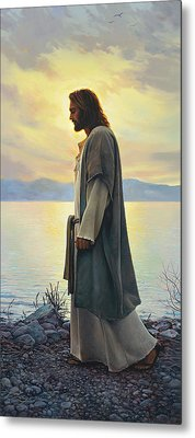 Metal Print featuring the painting Walk With Me  by Greg Olsen