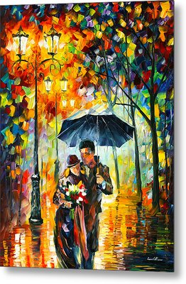 Warm Night Metal Print by Leonid Afremov