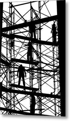 Water Tower Silhouette  Metal Print by Allen Beatty