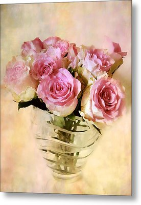 Watercolor Roses Metal Print by Jessica Jenney