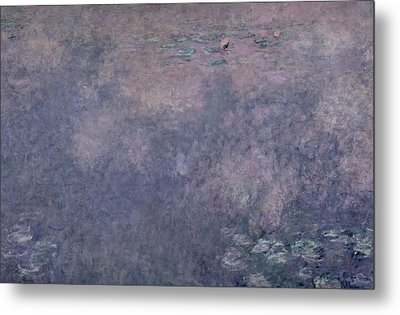 Waterlilies Two Weeping Willows Metal Print by Claude Monet