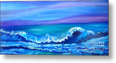 Wave Metal Print by Jenny Lee