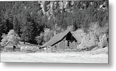 Metal Print featuring the photograph Weathered Barn by Harold Rau