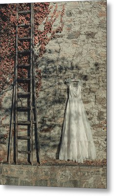 Wedding Dress Metal Print by Joana Kruse