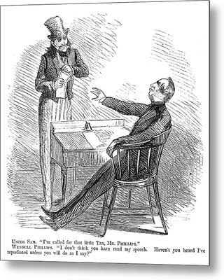 Wendell Phillips (1811-1884) Metal Print