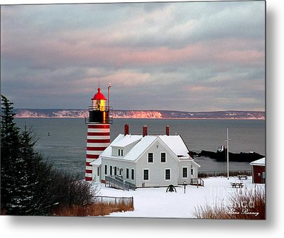 West Quoddy Head Lighthouse Metal Print by Alana Ranney