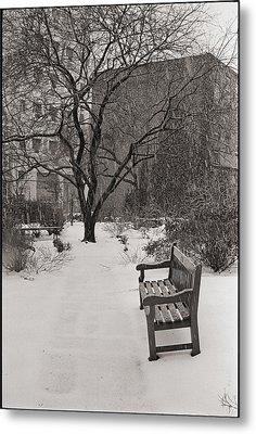 West Village Snow  Metal Print by Julie VanDore