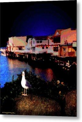 Wharf Gull Metal Print