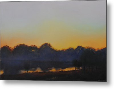 White Rock Lake Dusk Sold Metal Print by Cap Pannell