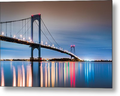 Whitestone Bridge Metal Print