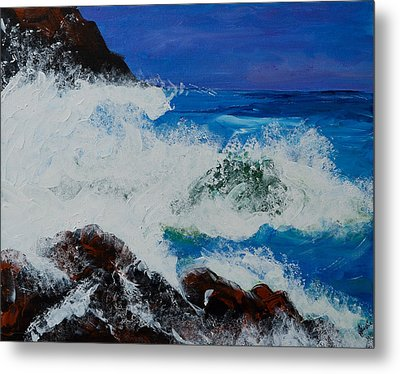 Wild Sea Metal Print by Judi Goodwin