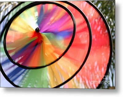 Metal Print featuring the photograph Wind Wheel by Henrik Lehnerer