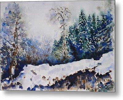 Winter In Dombay Metal Print by Zaira Dzhaubaeva