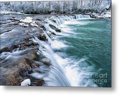 Winter Waterfall Metal Print by Thomas R Fletcher