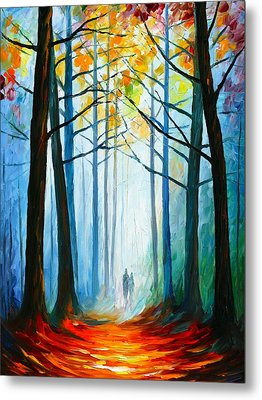 Wise Forest Metal Print by Leonid Afremov