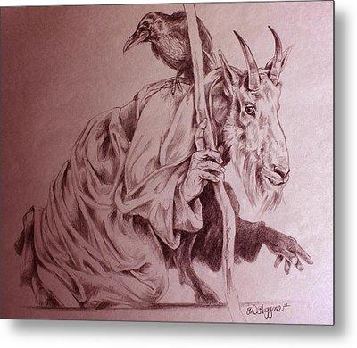 Wise Old Goat Metal Print by Derrick Higgins