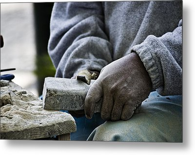 Working Hands Metal Print