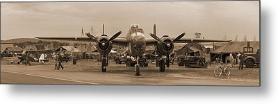 World War II B-25 Bomber Briefing Time  Metal Print by Angelo Rolt
