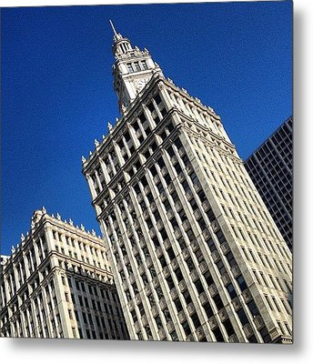 Wrigley Building- Chicago Metal Print by Mike Maher
