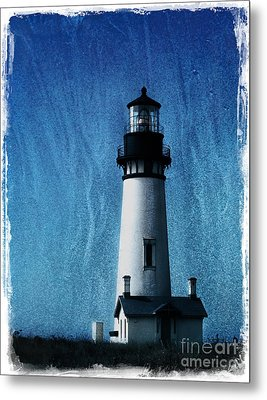 Yaquina Head Lighthouse Metal Print by Elena Nosyreva