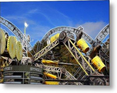 Alton Towers Smiler Roller Coaster Ride Metal Print by Doc Braham
