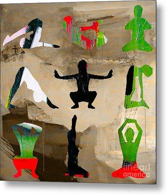 Yoga Poses Metal Print