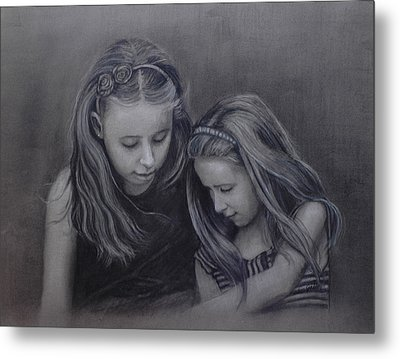 Young Sisters Metal Print by Colleen Gallo