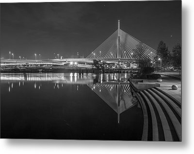 Zakim In Black And White Metal Print