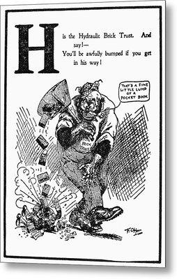 Anti-trust Cartoon, 1902 Metal Print by Granger