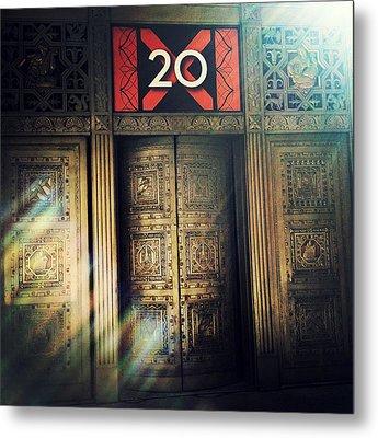 20 Exchange Place Art Deco Metal Print by Natasha Marco