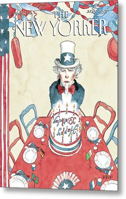 New Yorker July 4th, 2005 Metal Print by Barry Blitt