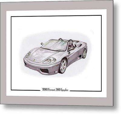 2001 Ferrari 360 Modena Spyder Metal Print by Jack Pumphrey