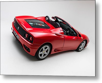 Metal Print featuring the photograph 2002 Ferrari 360 Spider by Gianfranco Weiss