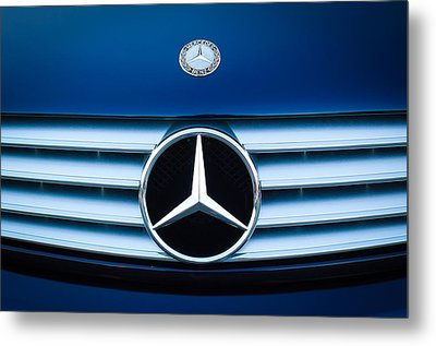 2003 Cl Mercedes Hood Ornament And Emblem Metal Print