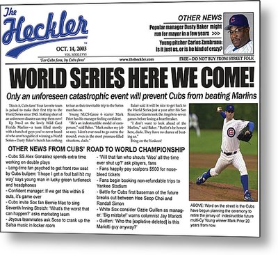 2003 Cubs Retro Cover From The Heckler Metal Print