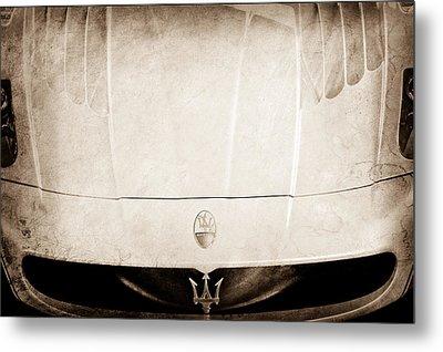 2005 Maserati Mc12 Hood Ornament Metal Print by Jill Reger