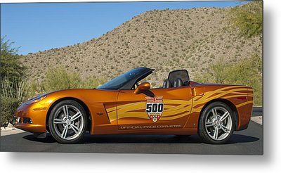 2007 Chevrolet Corvette Indy Pace Car Metal Print by Jill Reger