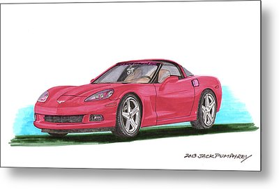 2007 Corvette C 6 Metal Print by Jack Pumphrey