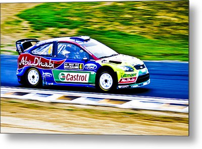 2010 Ford Focus Wrc Metal Print by motography aka Phil Clark