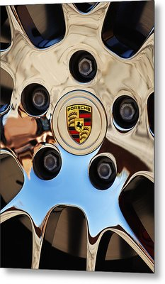 2010 Porsche Panamera Turbo Wheel Metal Print by Jill Reger
