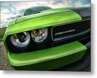 2011 Dodge Challenger Srt8 Green With Envy Metal Print by Gordon Dean II