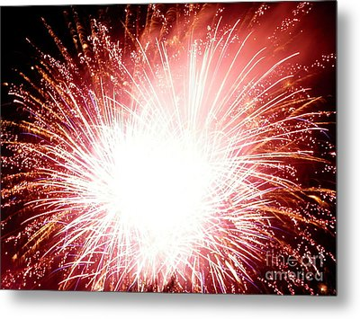 Metal Print featuring the digital art 2012 Fireworks by Angelia Hodges Clay